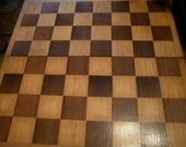 Vintage Marble Chessmen, Folding Wooden Board Box, and Instructions