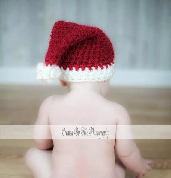 Santa Hat Prop SALE custom made for your photo sessions Just Born to Child sizes
