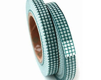 2 Set - Green Grid Check Adhesive Masking Tapes (0.3in)