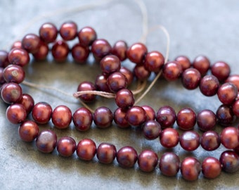 Freshwater Pearls 5mm rounds 16 inch strand ONLY ONE