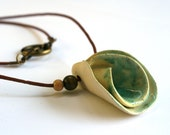 Lilyshaped ceramic necklace