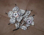Huge Rhinestone Brooch
