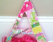 Extra Large Perfect Prep Patchwork Lilly Pulitzer Print Letter