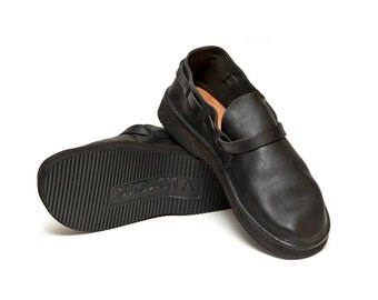 Men's BLACK Handmade Leather Shoes