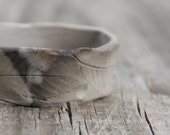 Raised from ashes - pit fired ceramic bangle