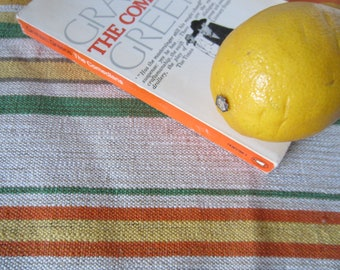 Vintage Swedish Handwovens: Thick Citrusy Stripe