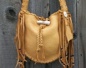 Handmade leather  handbag ,  Leather bucket bag , Crossbody bag ,  Carry all Shoulder bag
