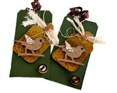 Gift Tags Set of 2  Perched
