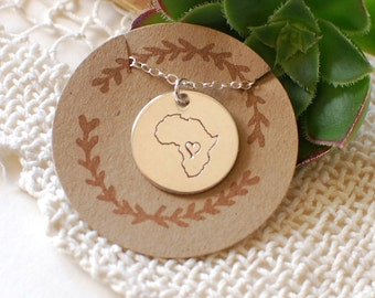 Africa Charm Silver or Gold