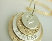Hand Stamped Necklace - Engraved Mommy Necklace