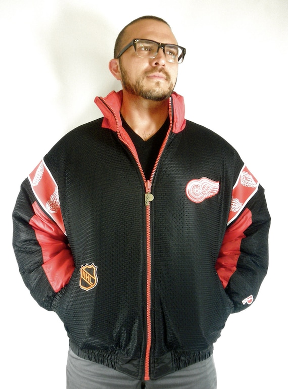 1990's Detroit Red Wings Reversible Puffy Jacket by Pro Player
