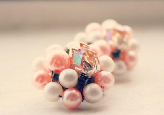 Vintage Japan Clip On Earrings