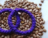 Set of two crochet purple bracelets or bangles