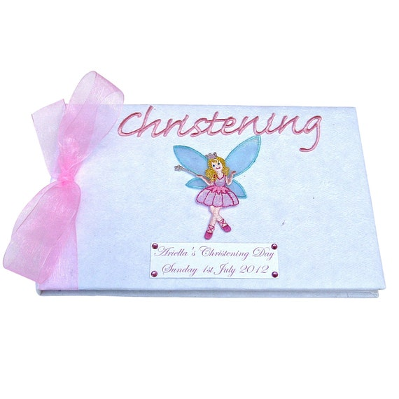 Baby Girl's Fairy Christening Guest Book