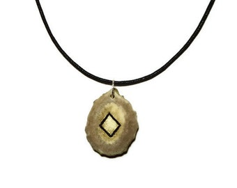 Ingwaz Bone Rune Necklace