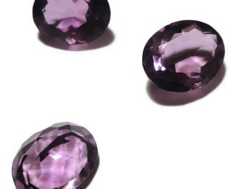 Genuine Amethyst 9x11x5mm Oval cut 3.05 - 3.15ct total