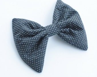 Swiss Dots Hair Bow For Girls, Large Hair Bow, For Women