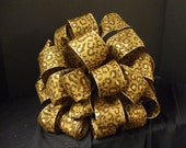 Christmas Bow Topper, Leopard Christmas Tree Topper, Animal Print Ribbon, Brown Large (4) 7.5 ft Streamers