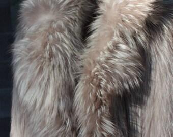 Vintage Fawn Fox Full Length Maxi Coat Thick n Lush Dramatic Stunning