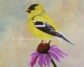 Goldfinch Giclee print. 8 x 10 bird print AVATAR