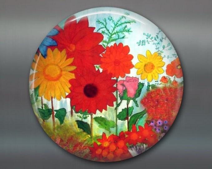 over size magnet, kitchen decor, garden flower decor, fridge decoration,  flower magnet, red flower decor, stocking stuffer gift  MA-502