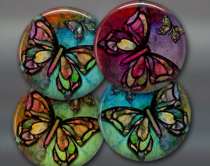 "Butterfly gift for her - butterfly decor for kitchen -  housewarming gifts for butterfly lover -  3.5"" butterfly fridge magnet set- 3.5"""