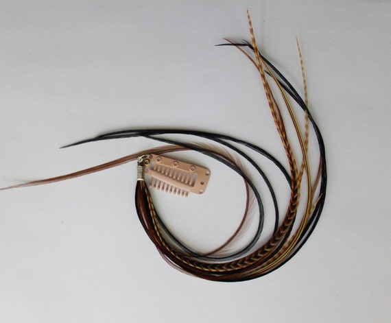 Earth Temptress - Super Long Feather Extension on Extension Clip