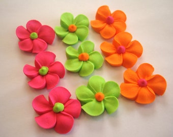 Royal Icing Flowers  for Cake Decorating Lot of 150