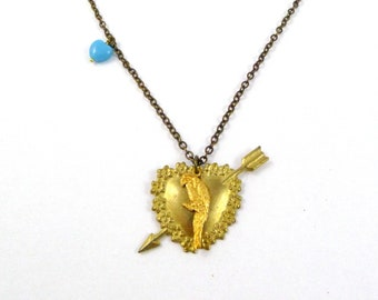 Kat Dennings Necklace, Max from Two Broke Girls Style, Parrot Bird, Arrow, Blue Heart