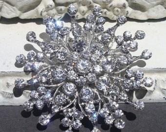 Brooch Pin - Rhinestone Brooch - - Perfect For Bridal Bouquets - Bridal Sash- Bridesmaid Dress-Style Sweet Lynn