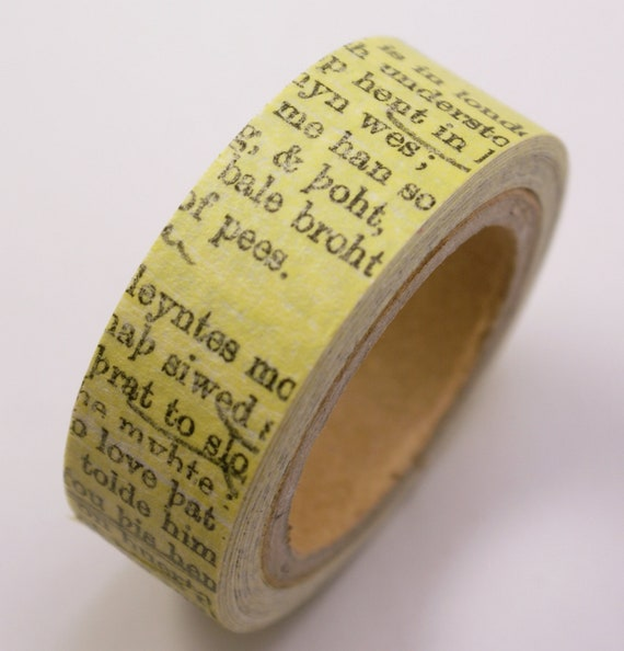 Old Fashioned Book Page Crafting Paper Masking Tape - 6 Yards
