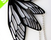 DRAGONFLY wings long necklace