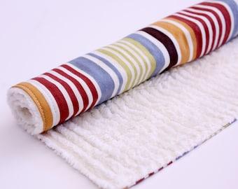 Baby Boy Striped Chenille Burp Cloth
