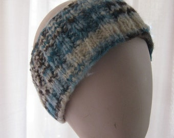 Reclaimed Yarn Headband with Button