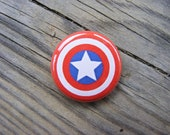 Captain America Shield - The Avengers - 1 inch Pin Back Button