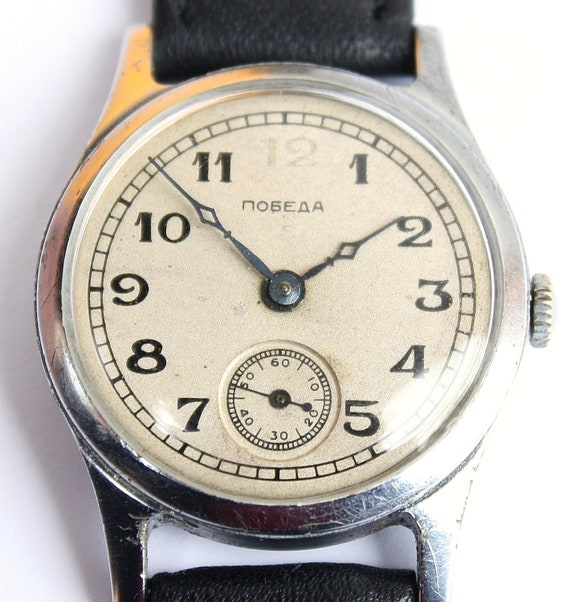 Mens watch, ladies watch, unisex watch RARE Old soviet POBEDA watch from 3 quarter of 1949 with serial 22715