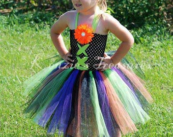 Stunning Little Witch Tutu Dress -Size 2T to Girl's Size 6 - Can Can Be Worn Different Ways