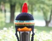 Crochet PATTERN - Little Indian Hat - Instant download