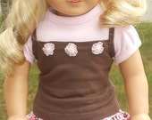 Ruffled Skirt, T-Shirt And Strappy Tank Top For American Girl Or Similar 18-Inch Dolls