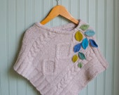 Custom Listing for maryjoannapitman// Little Leaves Poncho//18 month to 4T size