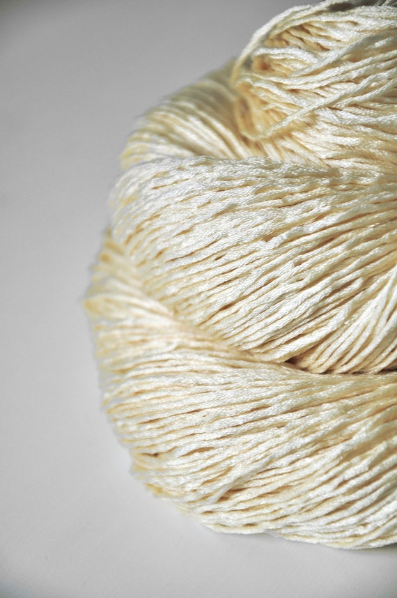 A hint of gold OOAK - Silk Yarn Fingering weight