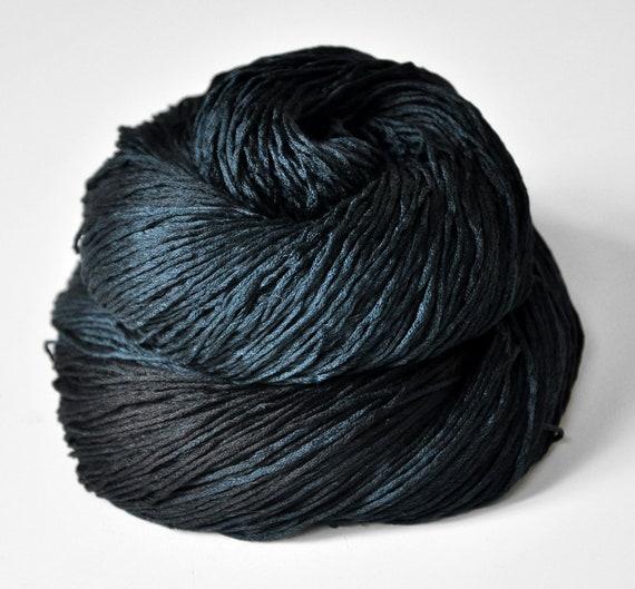 A dark storm is coming OOAK  - Silk Yarn Fingering weight