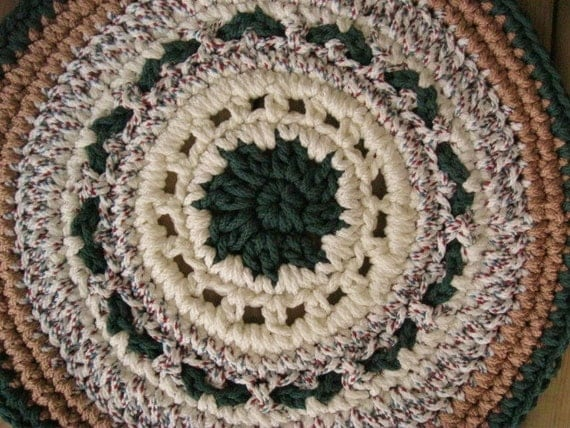 macrame rugs forest green camel rug from macrame cord by mrsginther 153