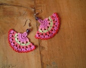 crochet earings- multicolored