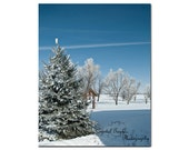 Winter Wonderland Nature Outdoor Photography Fine Art Home Decor Print Sky Blue Snow White