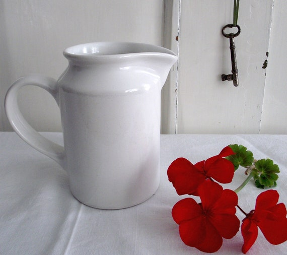 Vintage- White - Ironstone Creamer-Made in Portugal