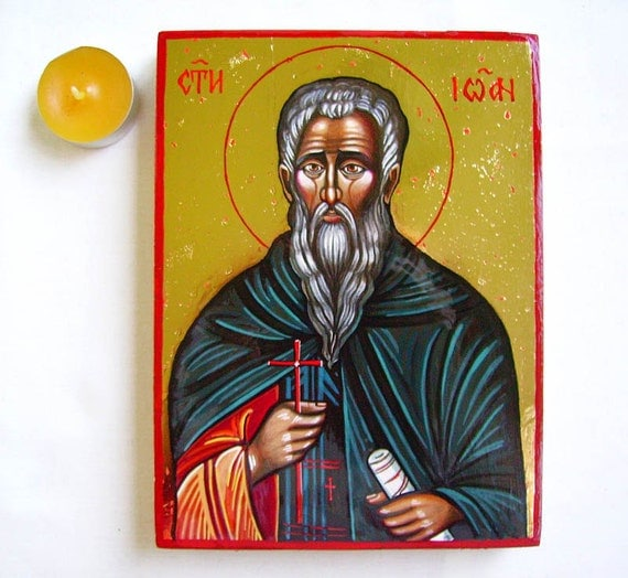 Saint Ivan Rilski, St Ioan of Rila - handpainted icon original, 8 by 6 inches, MADE TO ORDER