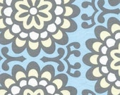 Lotus Wall Flower AB17  Sky - by Amy Butler- Quilt Fabric Yard- 1/2 Yd BTY for Free Spirit