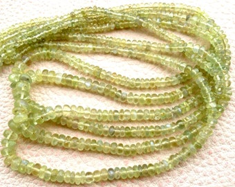 8 Inch,VERY-FINEST, aaa Quality CHRYSOBERYL Cat's Eye Smooth Rondells,2.5-4mm Size,Reduce from 49