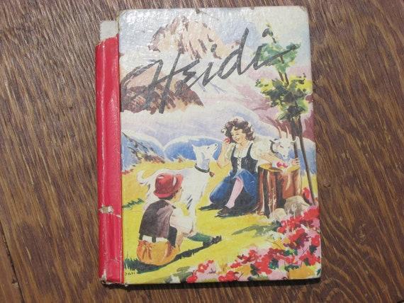 Vintage Book, Children, Heidi, Johanna Spyri, 1940, Illustrated, Hardback